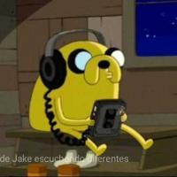 音楽を聴いているジェイク